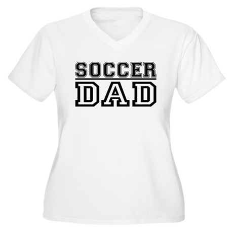 Soccer Dad Women's Plus Size V-Neck T-Shirt