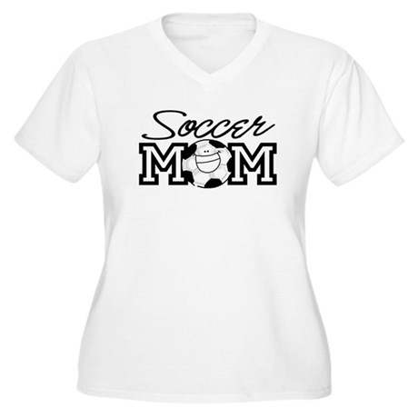 Soccer Mom Women's Plus Size V-Neck T-Shirt