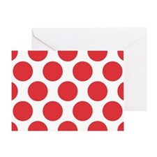 Poppy Red Polkadot Greeting Card