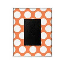 Nectarine Orange Polkadot Picture Frame