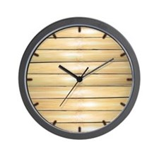 Bamboo face clock