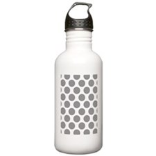 Pebble Grey Polkadot Water Bottle