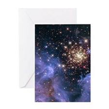 Celestial Fireworks 2 Greeting Card