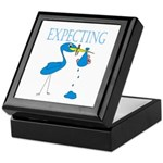 Expecting Blue Keepsake Box
