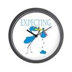 Expecting Blue Wall Clock