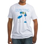 Expecting Blue Fitted T-Shirt