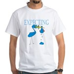Expecting Blue White T-Shirt