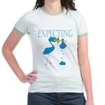 Expecting Blue Jr. Ringer T-Shirt
