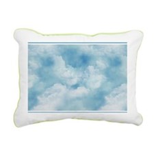 3x5 Blue Sky and White P Rectangular Canvas Pillow