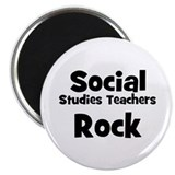Social Studies Teachers Rock Magnet