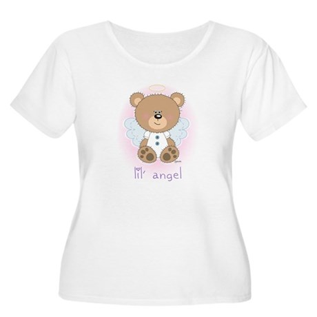 lil' brown bear angel Women's Plus Size Scoop Neck