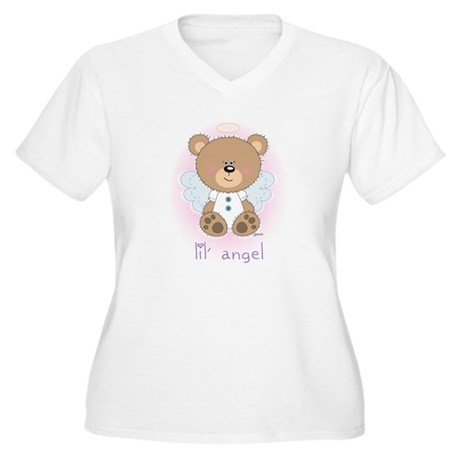 lil' brown bear angel Women's Plus Size V-Neck T-S