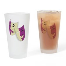 Masks of the Theater Drinking Glass