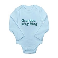 Grandpa, Lets Go Fishing Body Suit