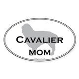 Cavalier Mom Oval Decal