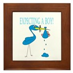 Expecting a Boy Framed Tile