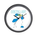 Expecting a Boy Wall Clock