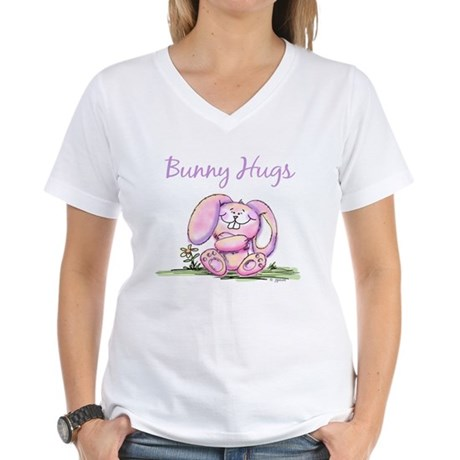 Bunny Hugs Women's V-Neck T-Shirt