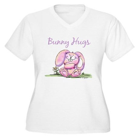Bunny Hugs Women's Plus Size V-Neck T-Shirt