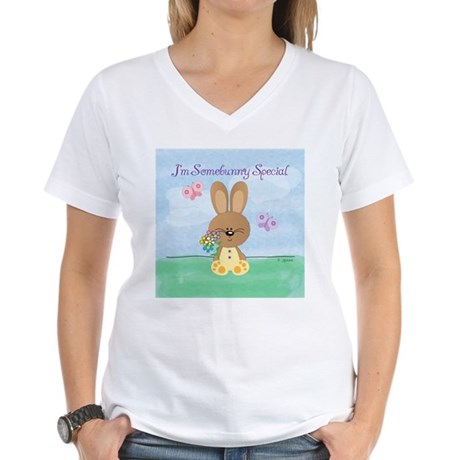 Somebunny Special Women's V-Neck T-Shirt