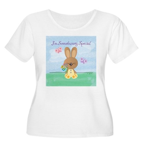 Somebunny Special Women's Plus Size Scoop Neck T-S