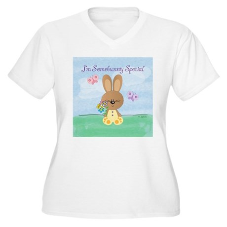 Somebunny Special Women's Plus Size V-Neck T-Shirt