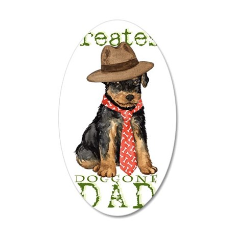airedale dad1 35x21 Oval Wall Decal