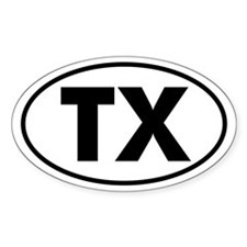 TX Oval Sticker (Texas)