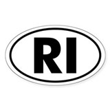 RI Oval Sticker (Rhode Island)