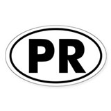 PR Oval Sticker (Puerto Rico)
