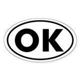 OK Oval Sticker (Oklahoma)