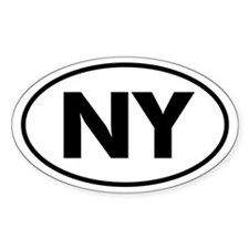 NY Oval Sticker (New York)