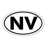 NV Oval Sticker (Nevada)