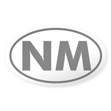NM Oval Sticker (New Mexico)