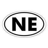 NE Oval Sticker (Nebraska)
