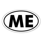 ME Oval Sticker (Maine)