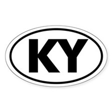 KY Oval Sticker (Kentucky)