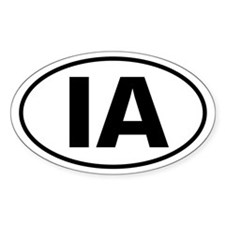 IA Oval Sticker (Iowa)