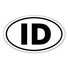 ID Oval Sticker (Idaho)