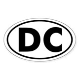 DC Oval Sticker (Washington D.C.)