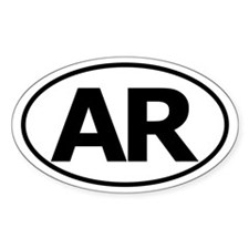 AR Oval Sticker (Arkansas)