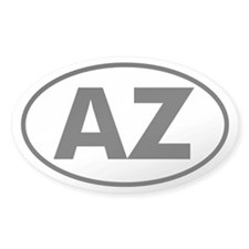 AZ Oval Sticker (Arizona)