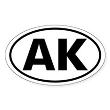 AK Oval Sticker (Alaska)