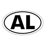 AL Oval Sticker (Alabama)