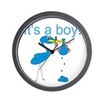 It's a Boy Wall Clock