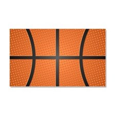 Basketball Pattern Car Magnet 20 x 12