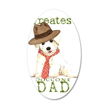 Bichon Dad 35x21 Oval Wall Decal
