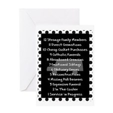 funeral proof 8 Greeting Card