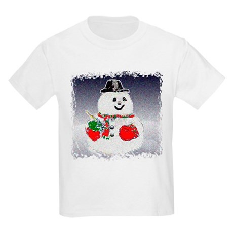 Winter Snowman Kids Light T-Shirt