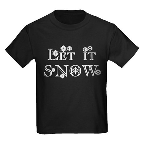 Let it SNOW! Kids Dark T-Shirt